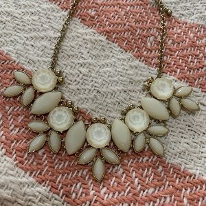 Francesca's Collections Jewelry - Cream stone and gold necklace